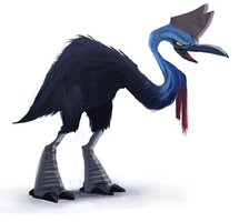 DAY 389. Cassowary by Cryptid-Creations