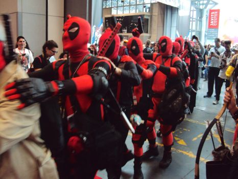 NYCC '14: Deadpool Line by PanicPagoda