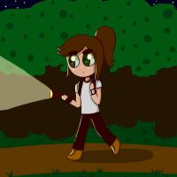 Sara in the woods by colorycloud