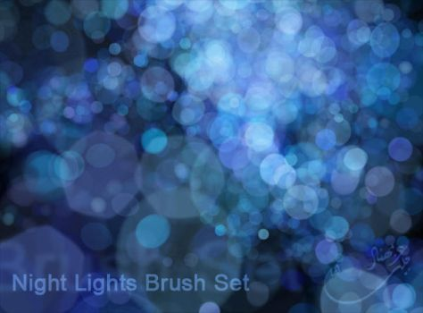 Night Lights Brush Set by m-ajinah