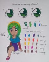 How to color an anime eye(marker) by 33starrynight33