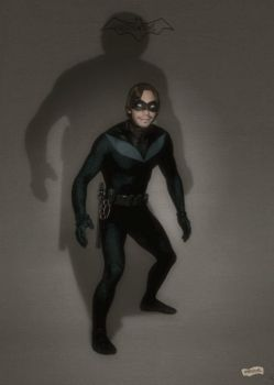 Nightwing pinup by simonpimpernel