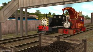 Day Out at Crovans Gate: Mavis and Harvey by ThomasandTUGSFan