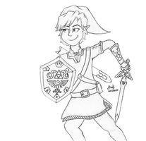 Toon Link by Inkstandy