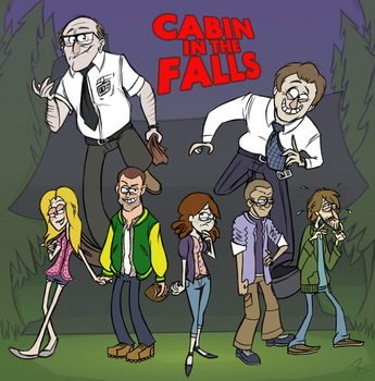 Cabin in the Falls by aftertaster7