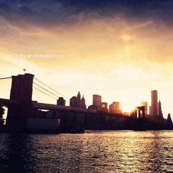New York - Sunset time by DarkSaiF