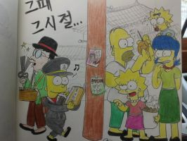The simpsons:Funny life in Korea by komi114