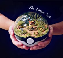 Poke Ball Terrarium - Eevee Forest by TheVintageRealm