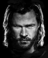 Thor Sketch by ScoffsArt