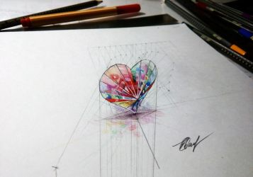 Crystal heart 3D by EvgenyS