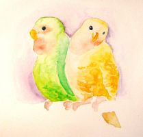 Two Birds on a Wire by ThirdPotato