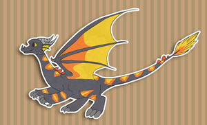 Dragon Adoptable MAKE AN OFFER by Parroti