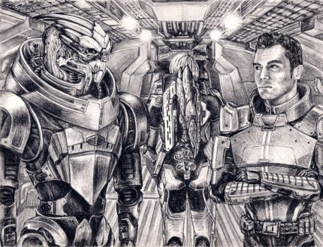 Garrus and Kaidan - No Excuses by efleck