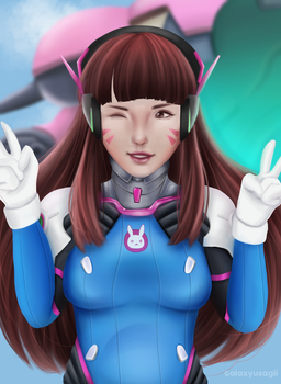 DVA - Overwatch by GalaxyUsagii