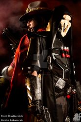 Reaper and Mccree by MrSnugglez84