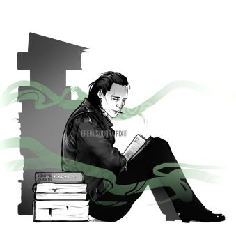 Loki and The Guiding book :: Fix-it by erebus-odora