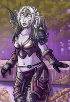asamis autumnstar, night elf sentinel by rincewindmog
