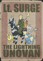 Lt. Surge The Lightning Unovan poster by Phi8