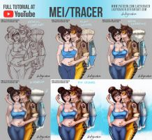 Mei/Tracer - Commission +Youtube Video by LadyKraken