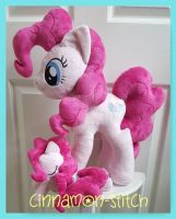 mlp plushie commission PINKIE PIE by CINNAMON-STITCH