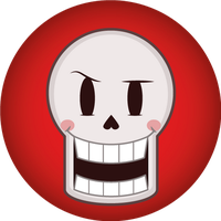 Undertale- Papyrus' Button by silsado