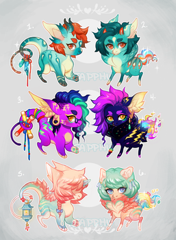 [LD+SD Hatchlings] All closed! by Sapphu-Adopts