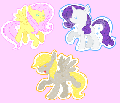 Pony Charms Set One by Ninja-Linx