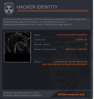 Godzilla 2013 official hacker badge XD by Kyotita