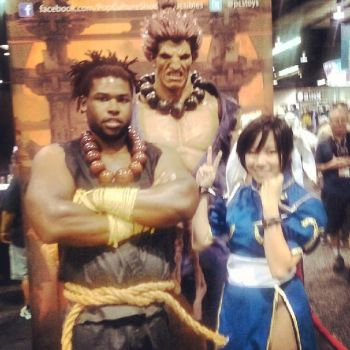 Me and Chun Li at Wondercon by CylentShadow