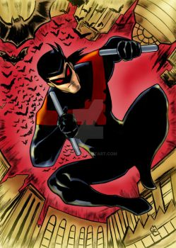 Nightwing Red by nic011