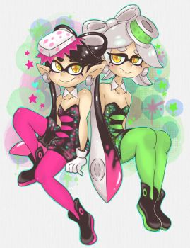 The squid sisters by Snowy-pizza