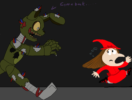 Sparkest25 Running away from SpringTrap! by Sparkest25
