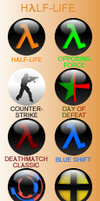 Half-Life 1 Orb Icon Pack by firba1