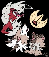 3 PokeMoon by CliffeArts