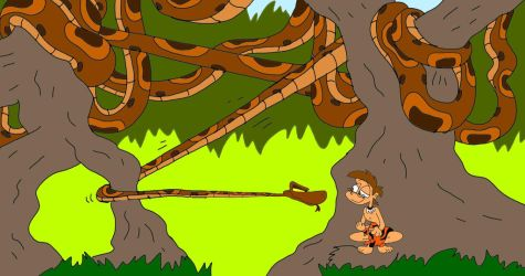 Jungle Boy Concept: Kaa Tricked by SammyD-Productions
