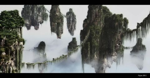 Floating mountains by Vejza