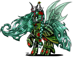 Adult Gallow Wisp in Royal Armour by TechTalkPony