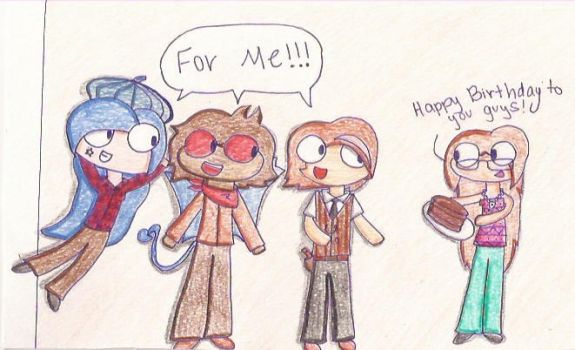 What day is Today! Its 3 Deviants Birthday! by CrazyPaintbrush