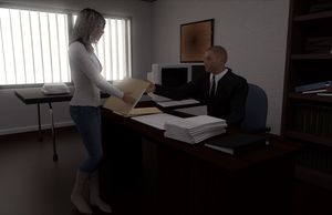 Office Scene in Daz studio by Justinlite