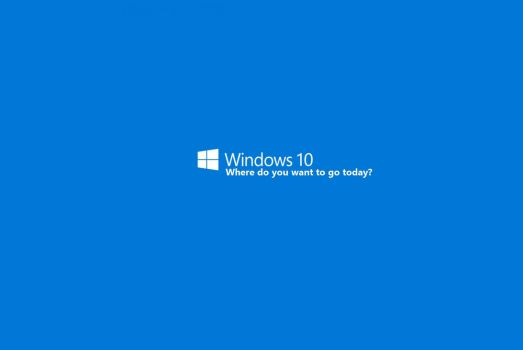 windows 10 - where do you want to go today? by WinkeyCtrlR