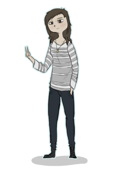 30 Day Drawing Challenge Day 1- Yourself by StarTheWolf243