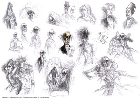 Phantom of the Opera Sketches by Leopreston