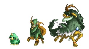 Fakemon- Grass Starters by Magic-Purple-Hermit