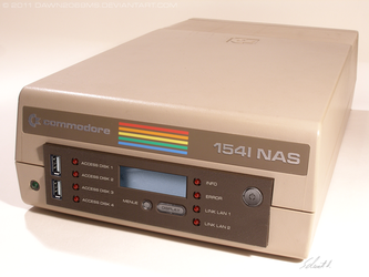 C64 - Commodore 1541-NAS front by Dawn2069MS