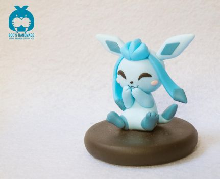 Glaceon - Eevee evolution handmade clay by Booshandmadeshop