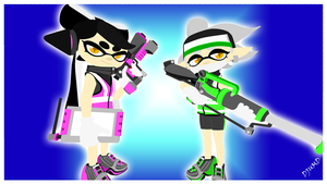Squid Sisters - Agents Marie and Callie 2K by DJUMD