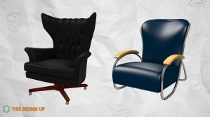 Wingback and Deco Chair Models (Download) by BrownBoxStudio