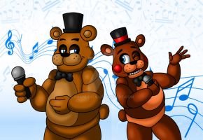 Freddy and Toy Freddy by Amanddica