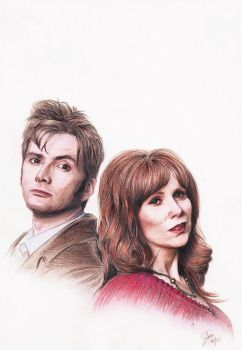 The Doctor and Donna by siniart