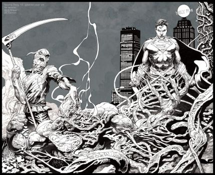Swamp, Scarecrow, Superman : INK (DC cover) by andybrase